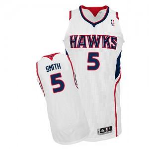 Atlanta Hawks #5 Adidas Home Blanc Authentic Maillot d'équipe de NBA Soldes discount - Josh Smith pour Homme