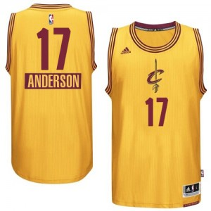Cleveland Cavaliers #17 Adidas 2014-15 Christmas Day Or Swingman Maillot d'équipe de NBA Soldes discount - Anderson Varejao pour Homme