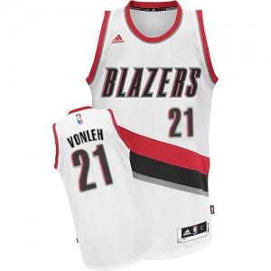 Portland Trail Blazers Noah Vonleh #21 Home Swingman Maillot d'équipe de NBA - Blanc pour Homme