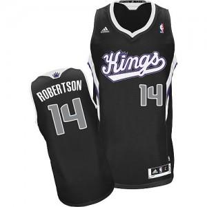 Maillot NBA Noir Oscar Robertson #14 Sacramento Kings Alternate Swingman Homme Adidas