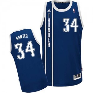 Oklahoma City Thunder Enes Kanter #34 Alternate Swingman Maillot d'équipe de NBA - Bleu marin pour Homme