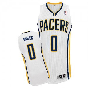 Maillot NBA Blanc C.J. Miles #0 Indiana Pacers Home Authentic Homme Adidas