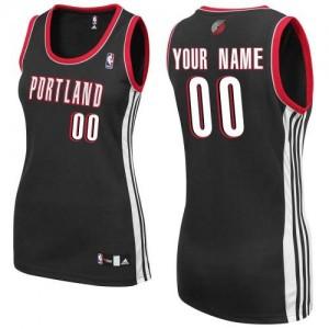 Maillot NBA Portland Trail Blazers Personnalisé Authentic Noir Adidas Road - Femme