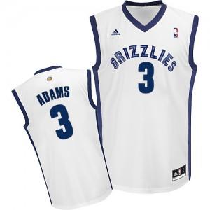 Memphis Grizzlies Jordan Adams #3 Home Swingman Maillot d'équipe de NBA - Blanc pour Homme