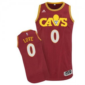 Maillot Adidas Rouge CAVS Swingman Cleveland Cavaliers - Kevin Love #0 - Homme