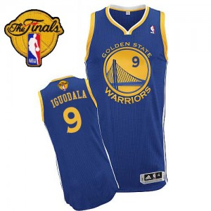 Maillot Authentic Golden State Warriors NBA Road 2015 The Finals Patch Bleu royal - #9 Andre Iguodala - Homme