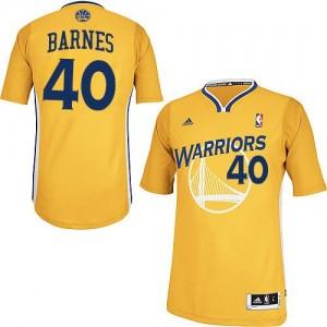 Maillot NBA Golden State Warriors #40 Harrison Barnes Or Adidas Swingman Alternate - Homme
