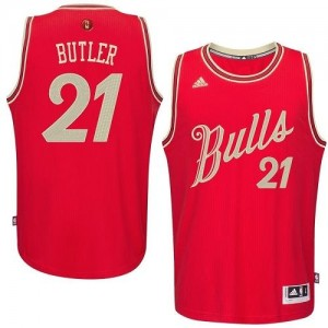 Maillot Authentic Chicago Bulls NBA 2015-16 Christmas Day Rouge - #21 Jimmy Butler - Homme