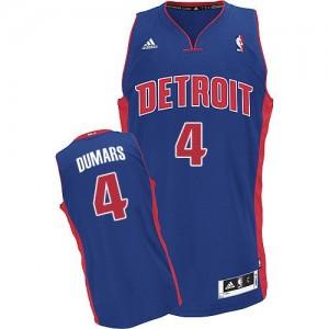 Maillot NBA Bleu royal Joe Dumars #4 Detroit Pistons Road Swingman Homme Adidas