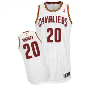 Maillot NBA Blanc Timofey Mozgov #20 Cleveland Cavaliers Home Authentic Homme Adidas