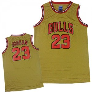 Chicago Bulls Michael Jordan #23 1997 Throwback Classic Authentic Maillot d'équipe de NBA - Or pour Homme