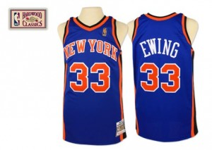 Maillot Swingman New York Knicks NBA Throwback Bleu royal - #33 Patrick Ewing - Homme
