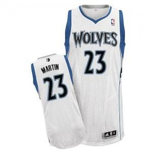 Minnesota Timberwolves #23 Adidas Home Blanc Authentic Maillot d'équipe de NBA Braderie - Kevin Martin pour Homme