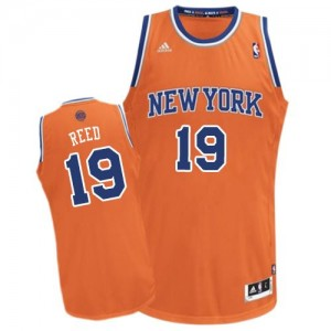 Maillot Adidas Orange Alternate Swingman New York Knicks - Willis Reed #19 - Homme