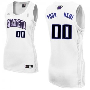 Maillot NBA Blanc Swingman Personnalisé Sacramento Kings Home Femme Adidas