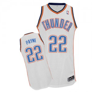 Maillot Adidas Blanc Home Authentic Oklahoma City Thunder - Cameron Payne #22 - Homme