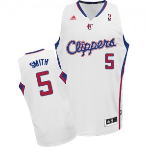 Maillot NBA Blanc Josh Smith #5 Los Angeles Clippers Home Swingman Homme Adidas