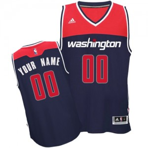 Washington Wizards Personnalisé Adidas Alternate Bleu marin Maillot d'équipe de NBA Braderie - Authentic pour Femme
