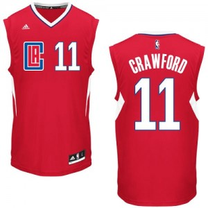 Maillot NBA Los Angeles Clippers #11 Jamal Crawford Rouge Adidas Authentic Road - Homme