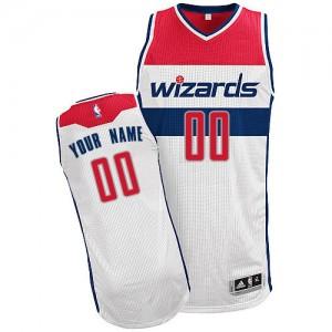 Washington Wizards Personnalisé Adidas Home Blanc Maillot d'équipe de NBA pour pas cher - Authentic pour Homme