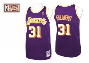 Los Angeles Lakers Mitchell and Ness Kurt Rambis #31 Throwback Authentic Maillot d'équipe de NBA - Violet pour Homme