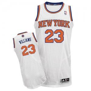 New York Knicks Derrick Williams #23 Home Authentic Maillot d'équipe de NBA - Blanc pour Homme