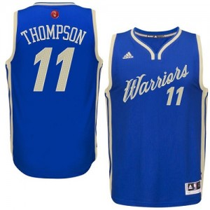 Maillot Swingman Golden State Warriors NBA 2015-16 Christmas Day Bleu royal - #11 Klay Thompson - Homme