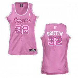 Los Angeles Clippers Blake Griffin #32 Fashion Swingman Maillot d'équipe de NBA - Rose pour Femme