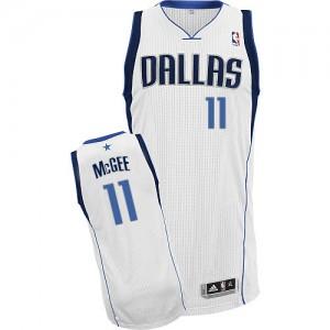 Maillot Authentic Dallas Mavericks NBA Home Blanc - #11 JaVale McGee - Homme