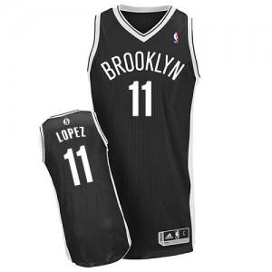 Brooklyn Nets #11 Adidas Road Noir Authentic Maillot d'équipe de NBA en ligne pas chers - Brook Lopez pour Homme