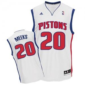 Maillot NBA Swingman Jodie Meeks #20 Detroit Pistons Home Blanc - Homme