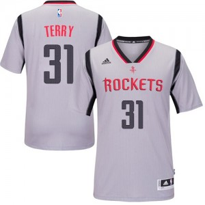 Maillot NBA Authentic Jason Terry #31 Houston Rockets Alternate Gris - Homme