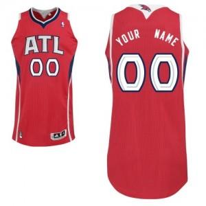 Atlanta Hawks Authentic Personnalisé Alternate Maillot d'équipe de NBA - Rouge pour Femme