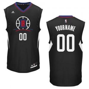 Los Angeles Clippers Personnalisé Adidas Alternate Noir Maillot d'équipe de NBA Prix d'usine - Swingman pour Homme