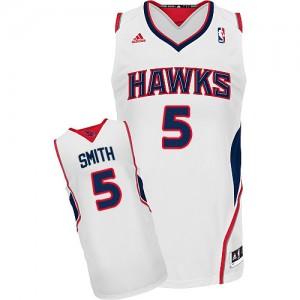 Atlanta Hawks #5 Adidas Home Blanc Swingman Maillot d'équipe de NBA sortie magasin - Josh Smith pour Homme