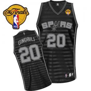 Maillot NBA Authentic Manu Ginobili #20 San Antonio Spurs Groove Finals Patch Gris noir - Homme