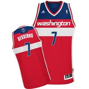 Maillot Adidas Rouge Road Swingman Washington Wizards - Ramon Sessions #7 - Homme