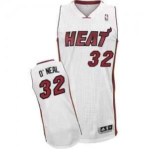 Miami Heat Shaquille O'Neal #32 Home Authentic Maillot d'équipe de NBA - Blanc pour Homme
