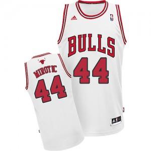 Maillot NBA Blanc Nikola Mirotic #44 Chicago Bulls Home Swingman Homme Adidas
