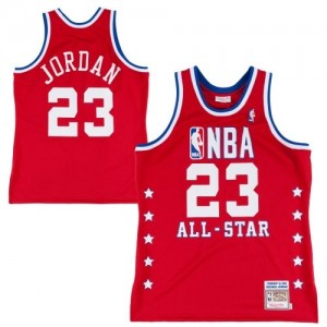 Maillot NBA Authentic Michael Jordan #23 Chicago Bulls Throwback 1992 All Star Rouge - Homme