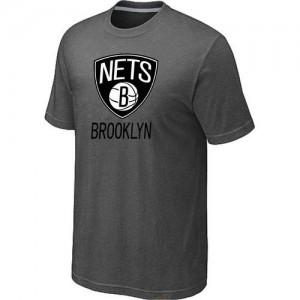 Brooklyn Nets Big & Tall Gris foncé T-Shirts d'équipe de NBA la meilleure qualité - pour Homme