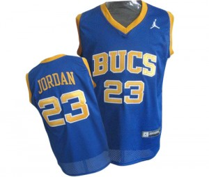 Maillot NBA Chicago Bulls #23 Michael Jordan Bleu Nike Swingman Laney Bucs High School Throwback - Homme