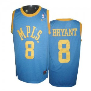 Maillot NBA Los Angeles Lakers #8 Kobe Bryant Bébé bleu Nike Authentic MPLS Throwback - Homme