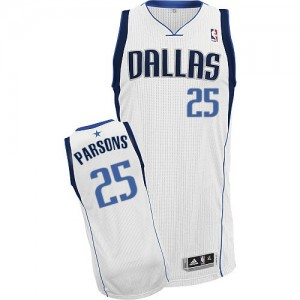 Maillot Authentic Dallas Mavericks NBA Home Blanc - #25 Chandler Parsons - Homme