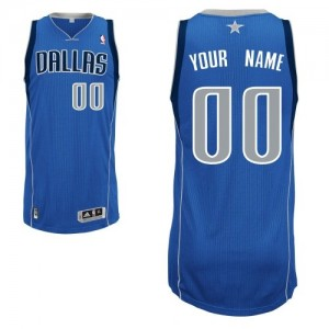 Maillot NBA Dallas Mavericks Personnalisé Authentic Bleu royal Adidas Road - Enfants
