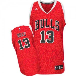 Maillot Authentic Chicago Bulls NBA Crazy Light Rouge - #13 Joakim Noah - Homme