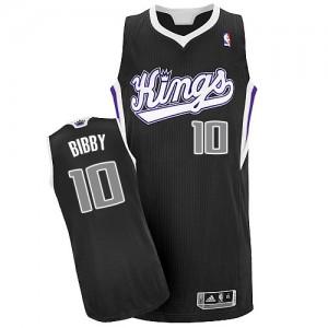 Maillot NBA Sacramento Kings #10 Mike Bibby Noir Adidas Authentic Alternate - Homme