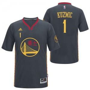 Maillot Adidas Noir Slate Chinese New Year Swingman Golden State Warriors - Ognjen Kuzmic #1 - Homme