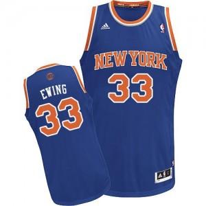 New York Knicks #33 Adidas Road Bleu royal Swingman Maillot d'équipe de NBA sortie magasin - Patrick Ewing pour Homme