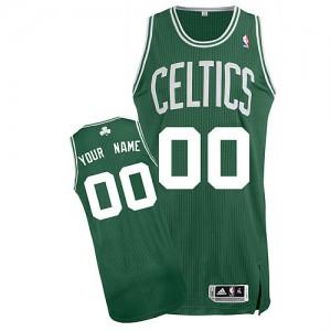 Boston Celtics Authentic Personnalisé Road Maillot d'équipe de NBA - Vert (No Blanc) pour Homme